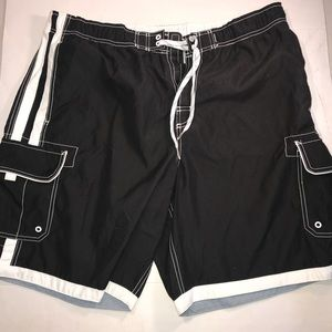 Black and White Swimming Trunks By Joe Boxer XL